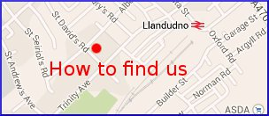 How to find Cornerways Guesthouse in Llandudno.